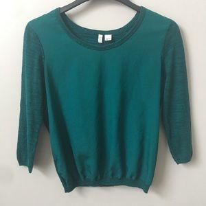 Anthropologie Moth Emerald Green Sweater